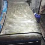 Зачищенный кузов автомобиля, подготовка к покраске