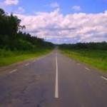 Ровная дорога, прямой участок дороги