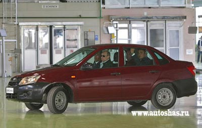 Презентация В.Путину нового автомобиля Lada Granta