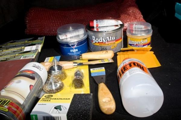 Материалы для ремонта бампера стекловолокном