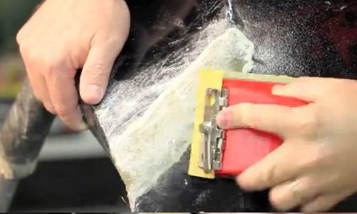 Восстановление бампера стекловолокном