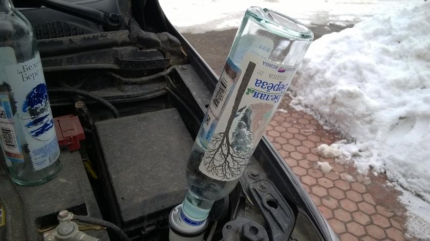 Лед растопит списросодержащая жидкость