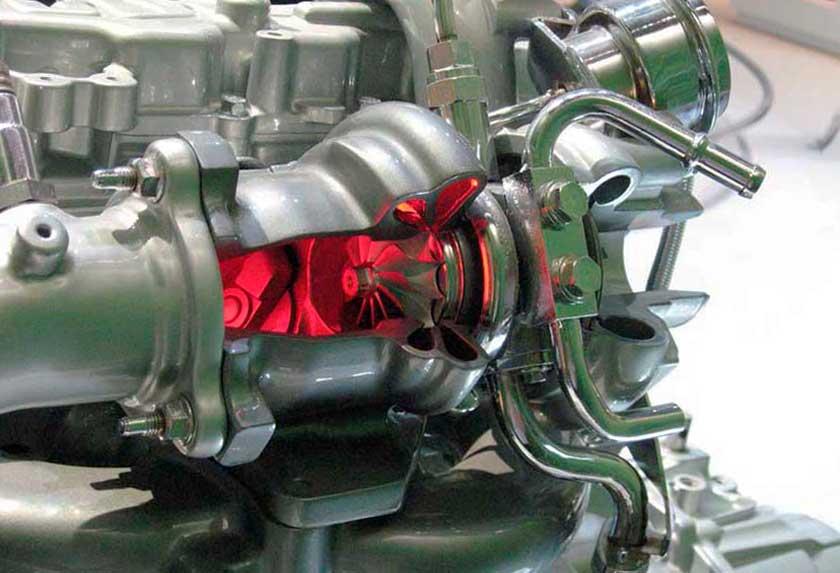 Турбина на атмосферном двигателе