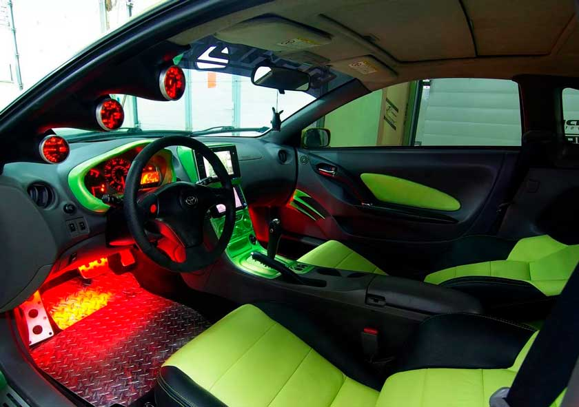 Спортивный тюнинг салона автомобиля
