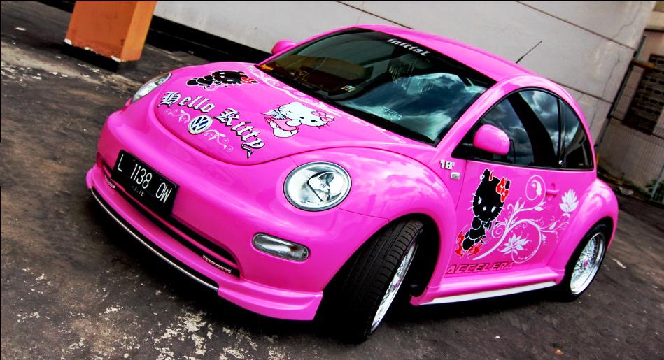 Пример тюнинга авто в стиле HELLO KITTY