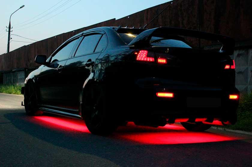 Подсветка кузова автомобиля неоном