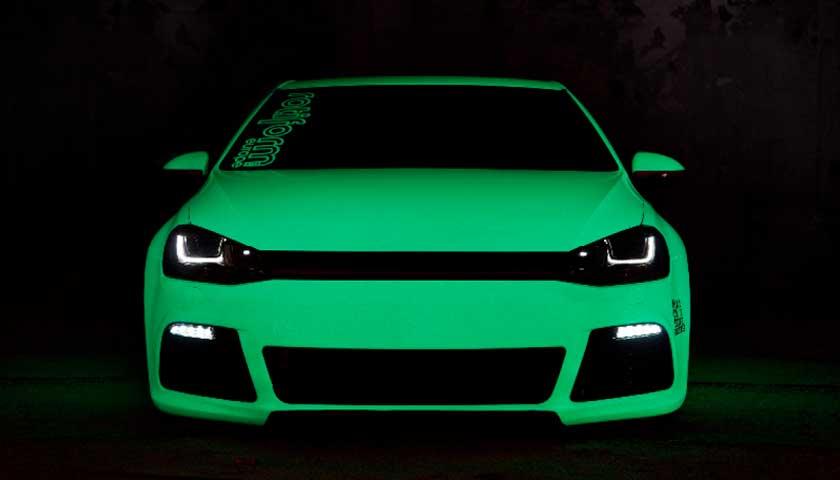 Тюнинг автомобиля светящимися красками своими руками