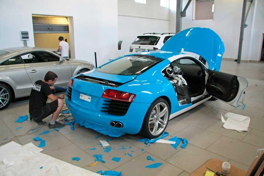 Оклейка виниловой пленкой Audi R8