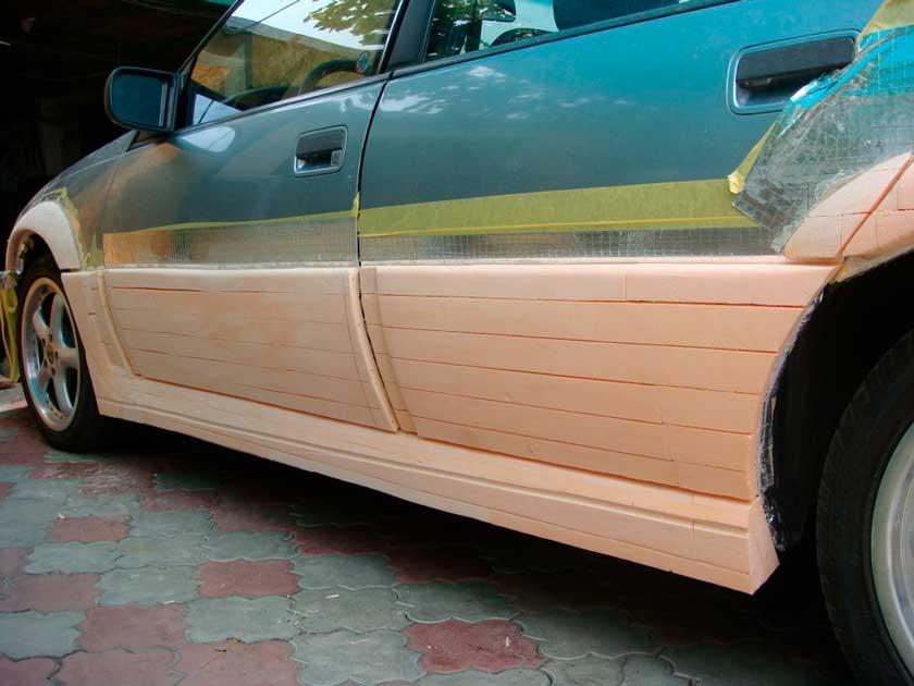 Тюнинг порогов авто с помощью стеновых панелей